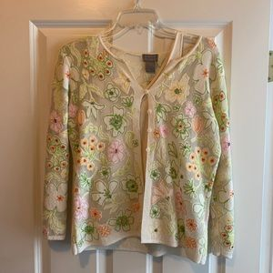Embroider Cardigan with Camisole